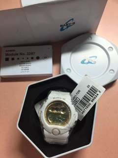 White and Gold Baby-G Casio Watch