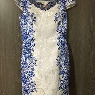 Blue/white Cheong sum