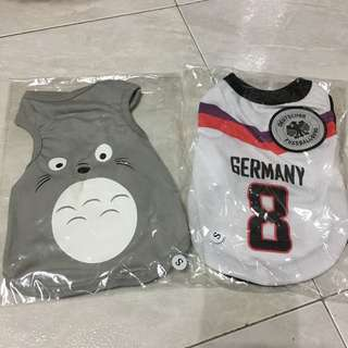 Brand new Dog/Puppy clothes Germany soccer Jersey & Totoro