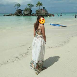 Long white summer dress/ Maxi dress / Floral 🌸