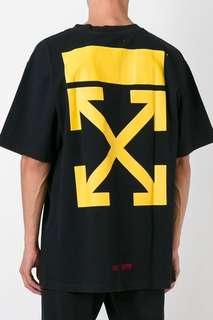 Off White Narcisso T-Shirt Black (black/ Yellow)