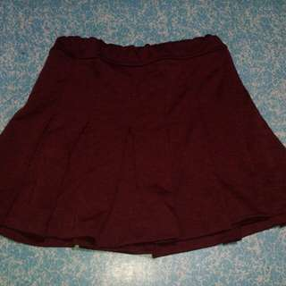 Skater skirt maroon