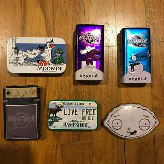 Set of 6 character collectible tins