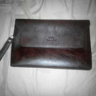 Palo Alto Clutch Leather