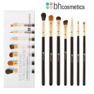 RTP$39.90 BNIB Authentic BH Cosmetics Eye Essential - 7 Piece Brush Set