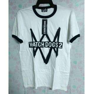 Ubisoft Watch Dogs 2 Logo White Tshirt