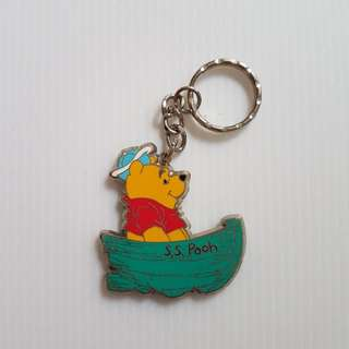 Winnie The Pooh (In a boat) Key Chain