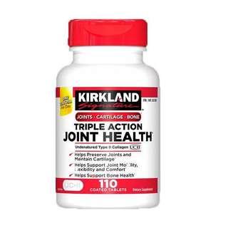 美國Kirkland Triple Action 骨膠原+透明質酸,110粒藥片