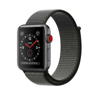 Apple Watch Series 3 - 42mm GPS + Cellular 太空灰深橄欖色運動手環
