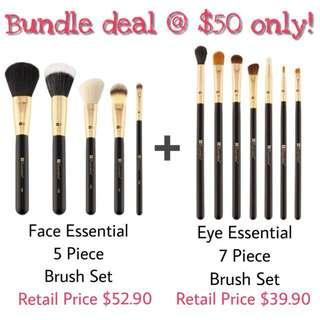 RTP$82.80 BNIB Authentic BH Cosmetics Face Essential + Eye Essential Brush Sets