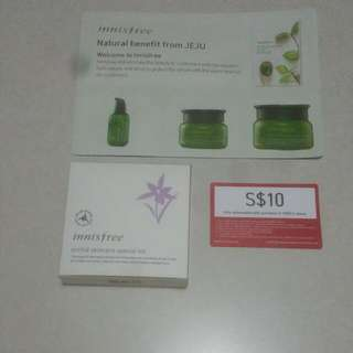 Innisfree Orchid Skincare, Voucher And Tea Seed Package