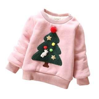 (全新)女童冬季加厚加絨衛衣