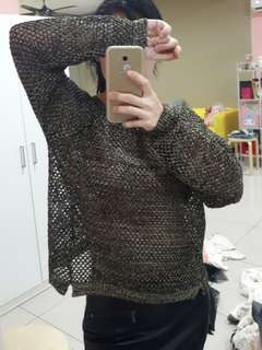 Zara black and gold sweater