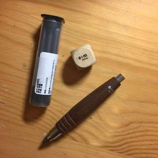 e+m wooden pencil 德國原木鉛芯筆