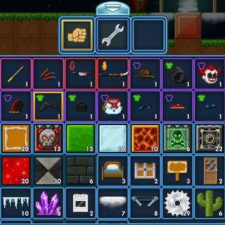 Pixel worlds Dark Cherub wings and sg cape