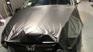 Bonnet wrapping , roof wrapping , black gloss , matte black