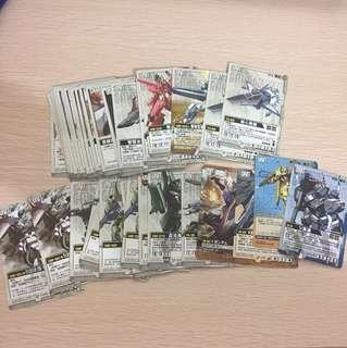 高達 Gundam War 卡 110張 有日文有中文