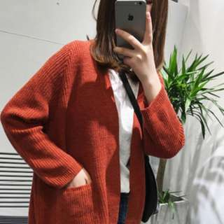 (4 Colours) Oversized Ribbed Knit Pocket Cardigan!