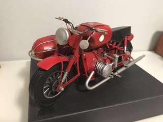 Classic Motorbike model w/ sidecar