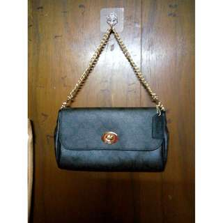 100% New without tag Coach F58320 Luxury Signature Big Size PVC Chain Bag