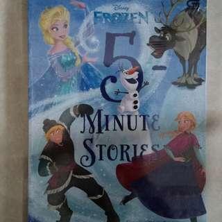 Buku Cerita / Buku Dongeng Disney Frozen 5 Minute Stories