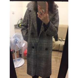 🚚 格子 大衣 外套