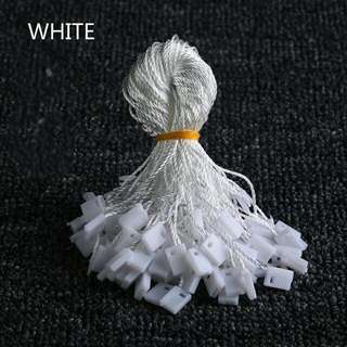 100pcs Clothes Tag Rope White Black Beige cords cotton hanging tablets for garment bag tags cards, DIY clothing accessories