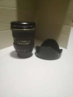 Selling away a used Nikon Tokina 12-24 DX lens.