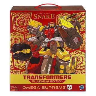 MISB Transformers Platinum Edition Year Of The Snake Omega Supreme (Generations Classics Universe Titans Return Power Of The Primes Masterpiece Optimus Prime Megatron Metroplex Trypticon Fortress Maximus Primus Unicron)
