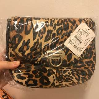 Brand New With Tag Japanese Brand Rienda Leopard Print Bag