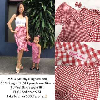 M&D Matchy Red Gingham