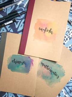 Watercolour notebooks
