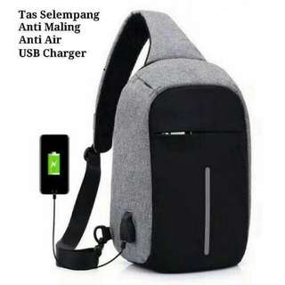 TAS ANTI MALING - ANTI THEFT BACKPACK PORT USB