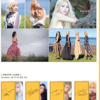 Mamamoo 6th Mini Album Yellow Flower + Photobook + Photocard + Poster