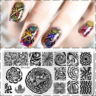 Marble nail stamping plate