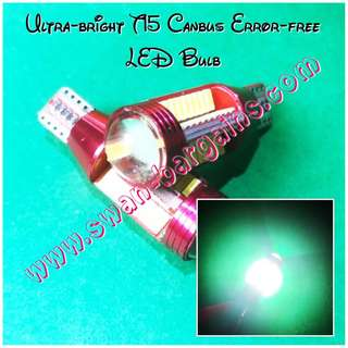 Error-free Ultra Bright High Power White W16W T15 Car Minibus Van Canbus LED Reverse Pole Light Bulb w Projector Lens