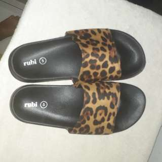 Ruby leopard sandals
