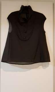 Black Frilled coloured Top