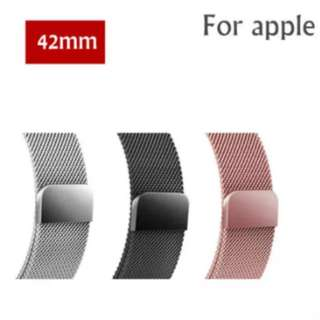 Metal strap for iphone watch with magnetic clasp