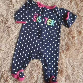 Baby girl sleep suit