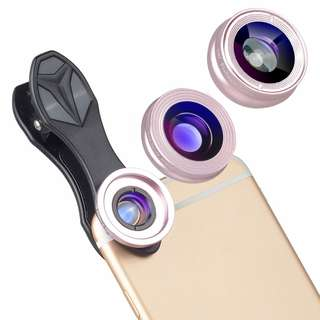 APEXEL 3-in-1 Clip-on Phone camera Lens lentes Kit for Android Tablets ios and other Smartphones Fisheye Lens+ 2in1 lens APL-SJ3