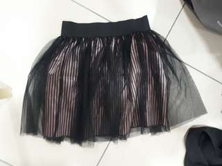 Lacey pink striped skirt