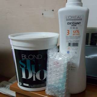 L'OREAL Bleaching powder, Oxydant and Wella toner
