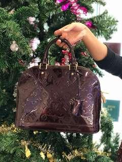 LV Bag Alma dark  purple