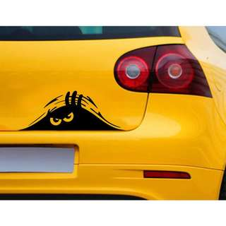 Funny Peeking 3D Eyes For Car Decal Sticker