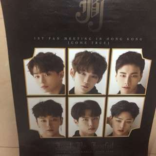 JBJ come true Hong Kong fan meeting poster