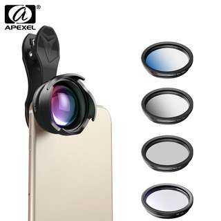 Phone camera Lens 2.5X telephoto Portrait bokeh lens with CPL Gradual filter ND filter for android ios smartphone 70mm