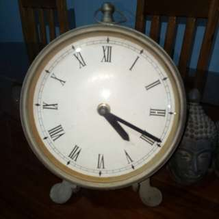 brass desktop clock antique