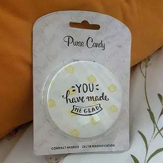 Purse candy compact mirror