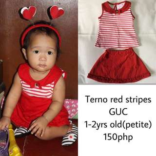 Terno Red stripes